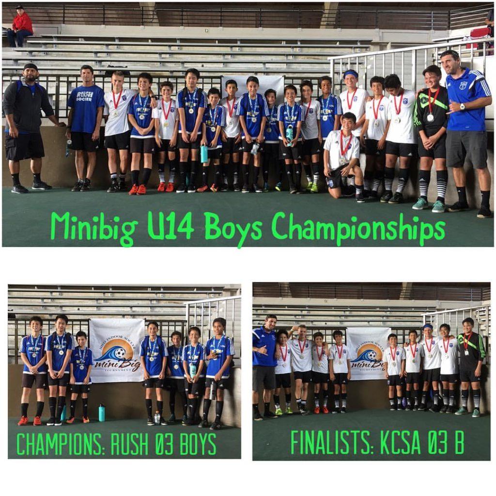 2017 miniBig U14 Boys Champions