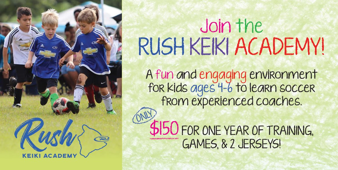 Big Island Rush Soccer Keiki Academy for Kids in Hilo